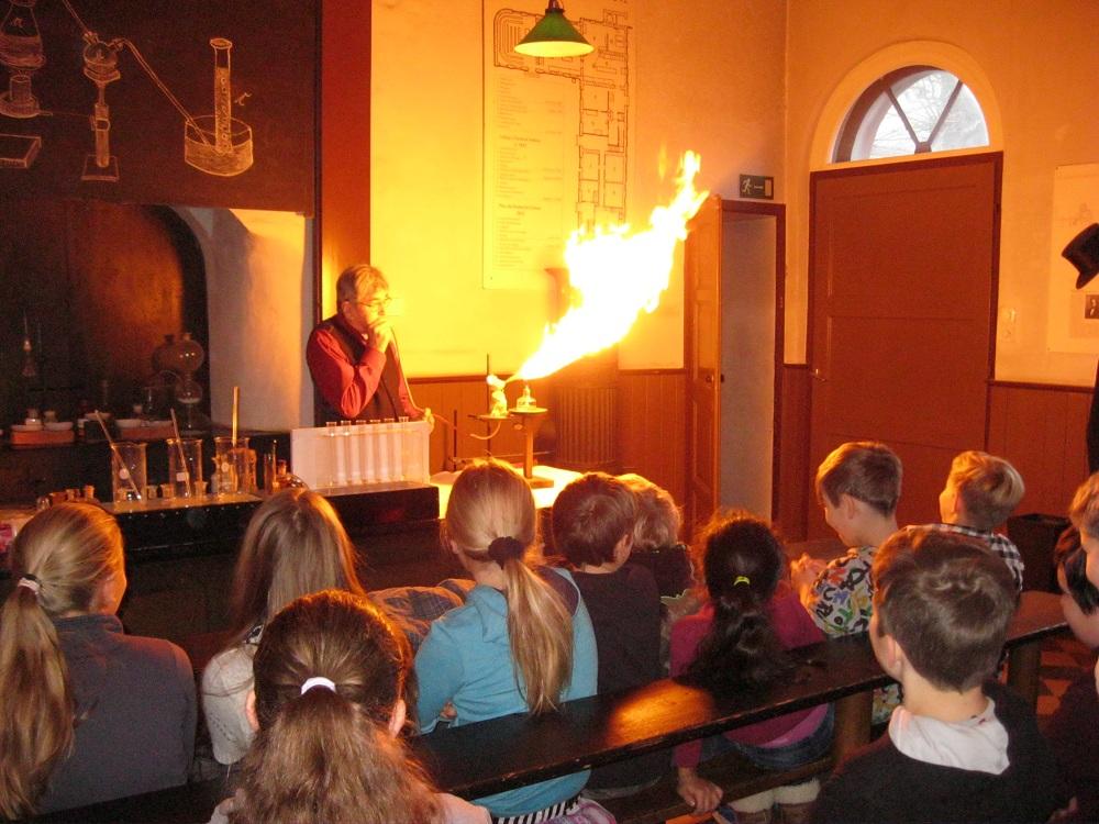 Feurige Experimente im Liebigmuseum